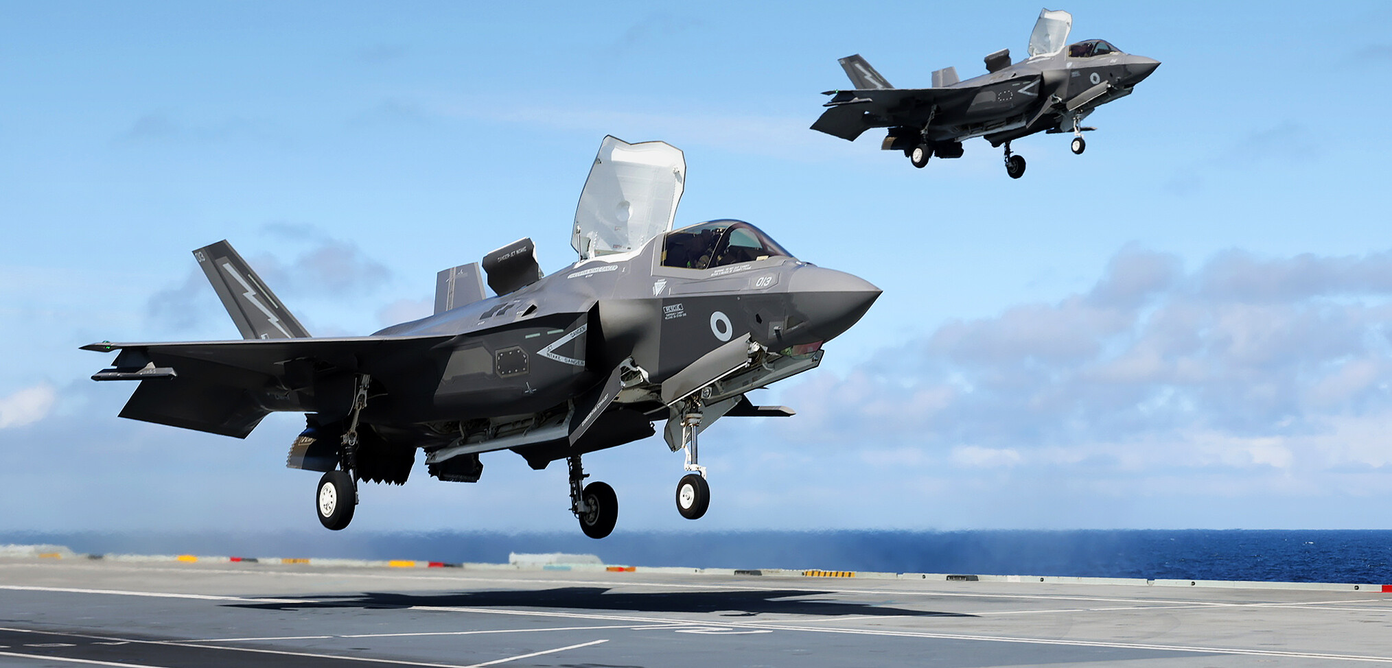 First combat missions flown from HMS Queen Elizabeth