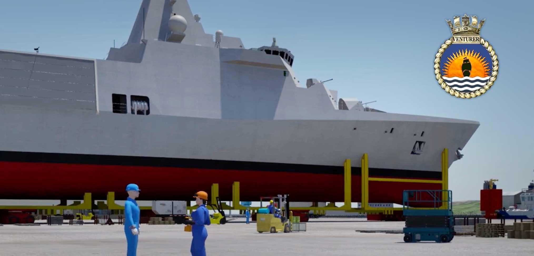 Steel cut for first Type 31 frigate – HMS Venturer